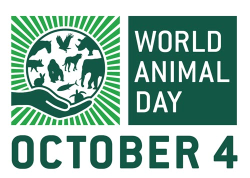world animal day logo