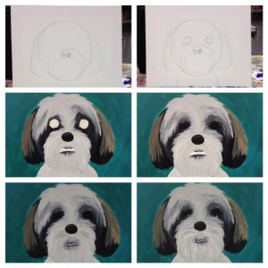 Step-by-step documentation of my fun paint-your-pet night!