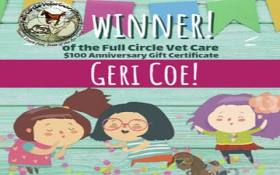 23rd Full Circle Vet Care Anniversary Drawing Winner!