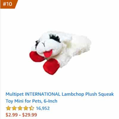 dog toy lambchop plush