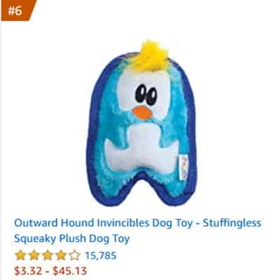 dog toy invincibles stuffingless