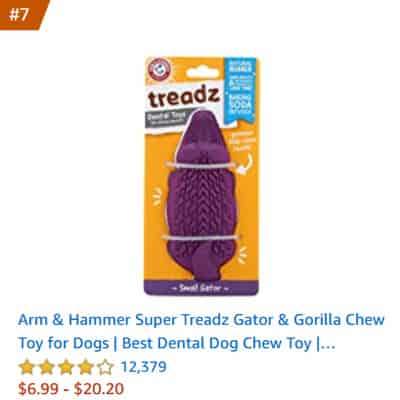 dog toy treadz gator