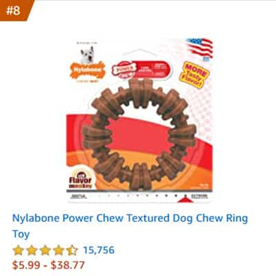 dog toy nylabone power chew