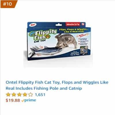 best cat toy flippity fish