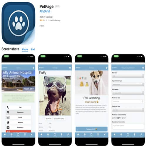 petpage app on apple store