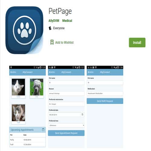 petpage app on google play store